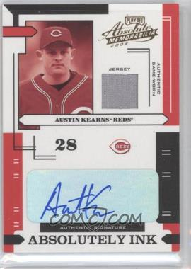 2004 Playoff Absolute Memorabilia Absolutely Ink Materials [Memorabilia] #AI-12 - Austin Kearns /100