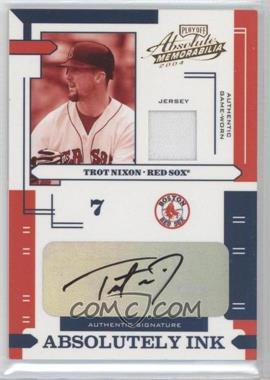 2004 Playoff Absolute Memorabilia Absolutely Ink Materials [Memorabilia] #AI-121 - Trot Nixon /100