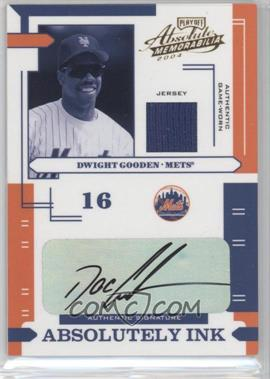 2004 Playoff Absolute Memorabilia Absolutely Ink Materials [Memorabilia] #AI-41 - Dwight Gooden /60