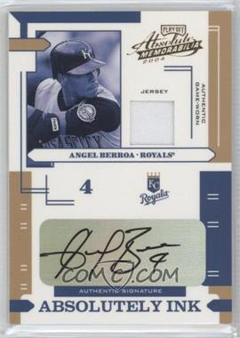 2004 Playoff Absolute Memorabilia Absolutely Ink Materials [Memorabilia] #AI-9 - Angel Berroa /100