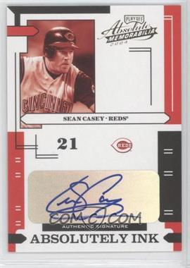2004 Playoff Absolute Memorabilia Absolutely Ink #AI-110 - Sean Casey /25
