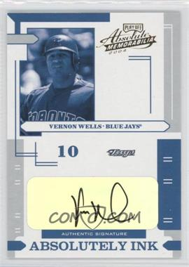 2004 Playoff Absolute Memorabilia Absolutely Ink #AI-123 - Vernon Wells /25