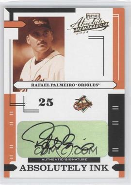 2004 Playoff Absolute Memorabilia Absolutely Ink #AI-98 - Rafael Palmeiro /5