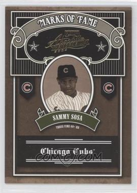 2004 Playoff Absolute Memorabilia Marks of Fame #MOF-5 - Sammy Sosa /100