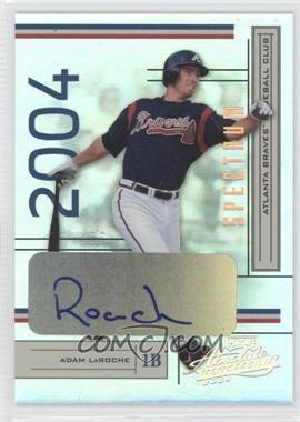 2004 Playoff Absolute Memorabilia Spectrum Silver Signatures [Autographed] #23 - Adam LaRoche /100