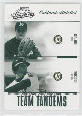 2004 Playoff Absolute Memorabilia Team Tandems #TAN-13 - Barry Zito, Eric Chavez /250