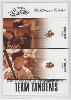 2004 Playoff Absolute Memorabilia Team Tandems #TAN-4 - Miguel Tejada, Cal Ripken Jr. /250