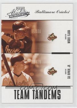 2004 Playoff Absolute Memorabilia Team Tandems #TAN-4 - Miguel Tejada, Cal Ripken Jr. /250