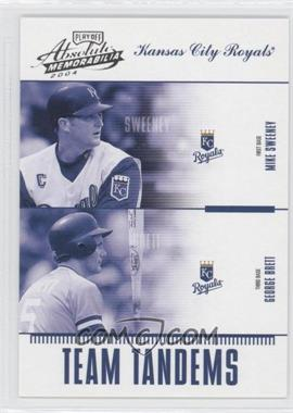 2004 Playoff Absolute Memorabilia Team Tandems #TAN-8 - Mike Sweeney, George Brett /250