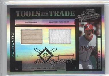 2004 Playoff Absolute Memorabilia Tools of the Trade Spectrum Black Combo Materials [Memorabilia] #TT-111 - Pat Burrell /25