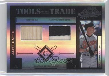 2004 Playoff Absolute Memorabilia Tools of the Trade Spectrum Black Combo Materials [Memorabilia] #TT-25 - Cal Ripken Jr. /25