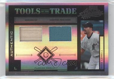 2004 Playoff Absolute Memorabilia Tools of the Trade Spectrum Black Combo Materials [Memorabilia] #TT-96 - Mike Lowell /25