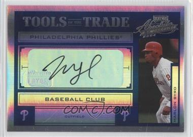 2004 Playoff Absolute Memorabilia Tools of the Trade Spectrum Blue Signatures [Autographed] #TT-93 - Marlon Byrd /50