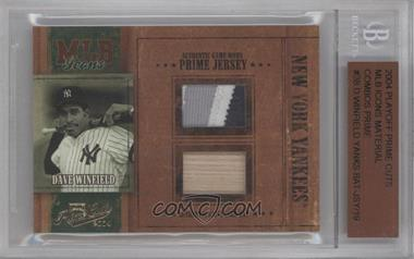 2004 Playoff Prime Cuts MLB Icons Combo Materials Prime [Memorabilia] #MLB-38 - Dave Winfield [BGS AUTHENTIC]