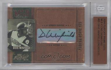 2004 Playoff Prime Cuts MLB Icons Signatures [Autographed] #MLB-65 - Dave Winfield /25 [BGS AUTHENTIC]