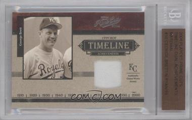 2004 Playoff Prime Cuts Timeline Dual Achievements Materials [Memorabilia] #TA-10 - George Brett, Nolan Ryan /19 [BGS AUTHENTIC]
