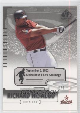 2004 SP Authentic - [Base] - Game Date Stat #25 - Richard Hidalgo /1