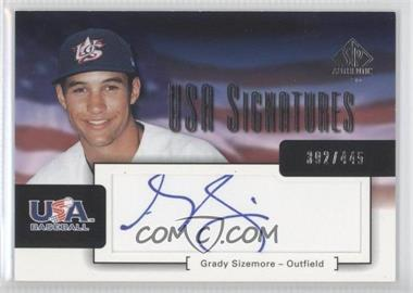 2004 SP Authentic - USA Signatures #USA-21 - Grady Sizemore /445