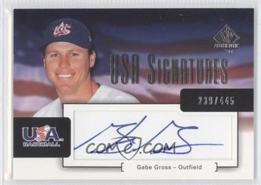 2004 SP Authentic - USA Signatures #USA-8 - Gabe Gross /445