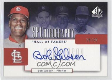2004 SP Authentic [???] #CH-BG - Bob Gibson /40