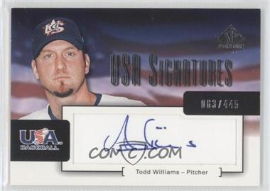 2004 SP Authentic [???] #USA-16 - [Missing] /445