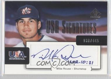 2004 SP Authentic [???] #USA-18 - Mike Rose /445