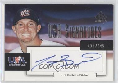 2004 SP Authentic [???] #USA-5 - J.D. Durbin /445