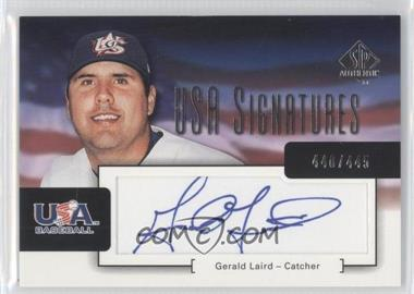 2004 SP Authentic [???] #USA-6 - Gerald Laird /445