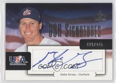 2004 SP Authentic [???] #USA-8 - Gabe Gross /445