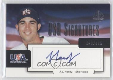 2004 SP Authentic [???] #USA-9 - J.J. Hardy /445