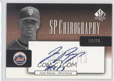 2004 SP Authentic SP Chirography Bronze Black & White #CA-JR - Jose Reyes /60