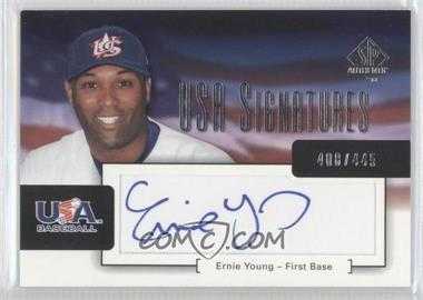 2004 SP Authentic USA Signatures #USA-1 - Ernie Young /445