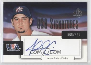 2004 SP Authentic USA Signatures #USA-3 - Jesse Crain /445