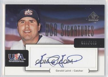 2004 SP Authentic USA Signatures #USA-6 - Gerald Laird /445