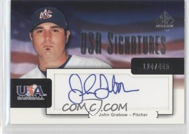 2004 SP Authentic USA Signatures #USA-7 - John Grabow /445