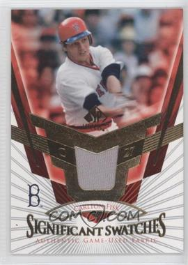 2004 SP Legendary Cuts - SIGnificant Swatches #SS-CF - Carlton Fisk