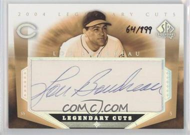 2004 SP Legendary Cuts [???] #LB - Lou Boudreau