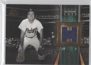 2004 SP Legendary Cuts Historic Patches #HP-DS - Duke Snider /25