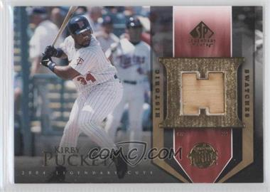 2004 SP Legendary Cuts Historic Swatches #HS-KP - Kirby Puckett