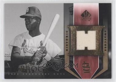 2004 SP Legendary Cuts Historic Swatches #HS-LB - Lou Brock