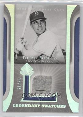 2004 SP Legendary Cuts Legendary Swatches Parallel #LSW-PR - Pee Wee Reese /15
