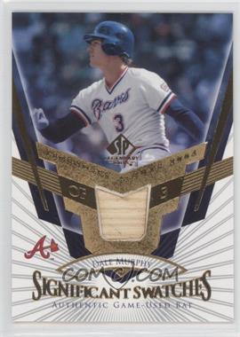 2004 SP Legendary Cuts SIGnificant Swatches #SS-DM - Dale Murphy