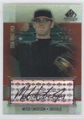 2004 SP Prospects - [Base] #417 - Mitch Einertson /400