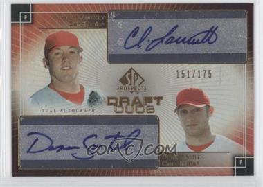 2004 SP Prospects - Draft Duos Autographs #DD-LS - Chris Lambert, Donnie Smith /175