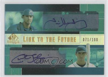 2004 SP Prospects - Link to the Future Dual Autographs #LF-QT - Guillermo Quiroz, Curtis Thigpen /100
