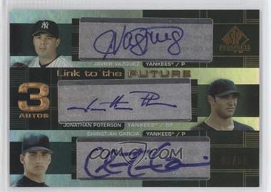 2004 SP Prospects [???] #LFT-VPG - Javier Vazquez, Jonathan Poterson, Christian Garcia /50