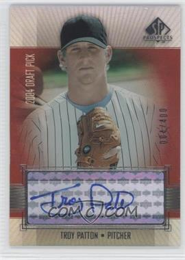 2004 SP Prospects Autographed Draft Picks Tier 3 #TP - Troy Patton /400