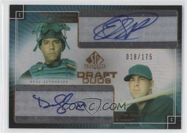 2004 SP Prospects Draft Duos Autographs #DD-PI - Devin Ivany, Erick San Pedro /175