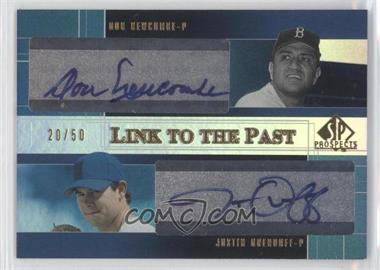 2004 SP Prospects Link to the Past #LP-NO - Don Newcombe, Justin Drenduff /50