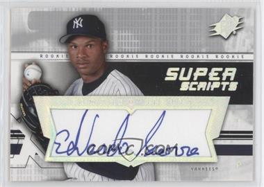 2004 SPx Super Scripts Rookie Autographs #SU-ES - Edwardo Sierra